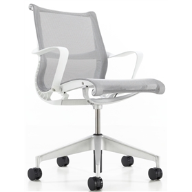 Herman Miller Setu Studio White Edition, Alloy base