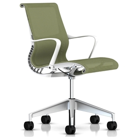 Herman Miller Setu  Chair, Chartreuse, Alloy Base