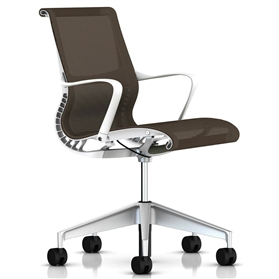 Herman Miller Setu  Chair, Java, Alloy Base