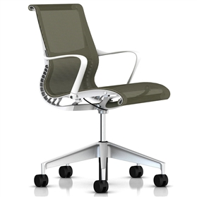 Herman Miller Setu  Chair, Rattan, Alloy Base