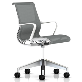 Herman Miller Setu Studio White, Semi-Polished Base