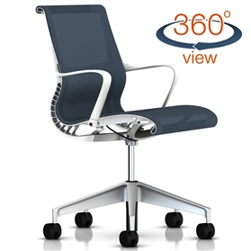 NEXT DAY DELIVERY! Herman Miller Setu Office Chair, Berry Blue