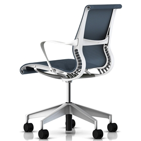 Herman Miller Setu Chair, Berry Blue, Alloy Base