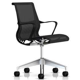 Herman Miller Setu Chair Graphite, Silver Base