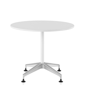 Herman Miller Setu Chalk White Round Meeting Height Table