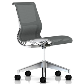 Herman Miller Setu Chair No Arms, Alpine White