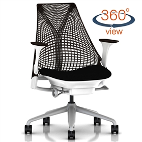 Herman Miller Sayl, Black and White, Fog Base