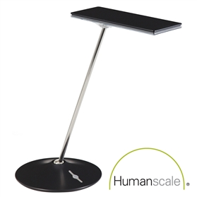 Humanscale Horizon LED Desk Light, Black