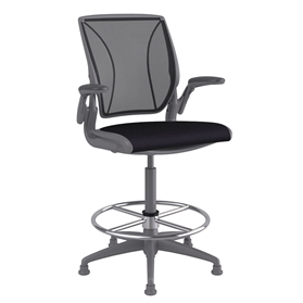Humanscale Diffrient World High Chair with Footring, Fabric seat