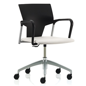 Pledge IKON Plastic Swivel Chair Upholstered Seat