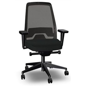 Interstuhl Everyis1 142E Synchronous Mesh Office Chair, Jet Black Edition
