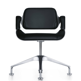 Interstuhl Silver 101S Brushed Aluminium Swivel Office Meeting Chair