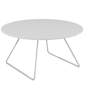 Komac Line Low Table, White