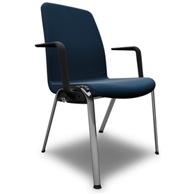 Komac Ice Fully Upholstered 4 Leg Chair With Arms