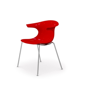Komac Loop 4 Leg Chair (Opaque finish)