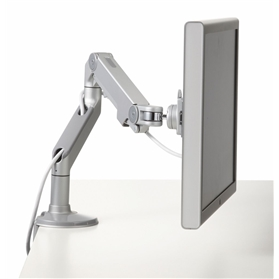 Humanscale M8 Adjustable Monitor Arm with Clamp, Silver