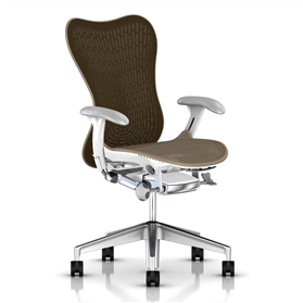 Herman Miller Mirra 2 Cappuccino, White Semi-Polished Base