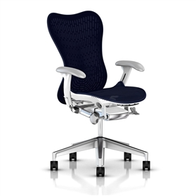 Herman Miller Mirra 2 Twilight, White Semi-Polished Base