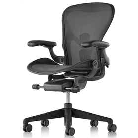 NEXT DAY DELIVERY! Herman Miller Aeron Graphite Finish Size B (Medium)