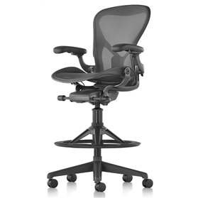 Herman Miller Aeron Work Stool, Graphite Edition