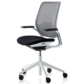 Orangebox Eva Office chair Black and White Executive Edition