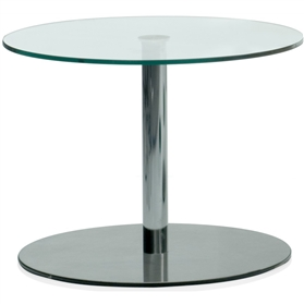Orangebox Breaker 600mm Melamine/Glass Round Table