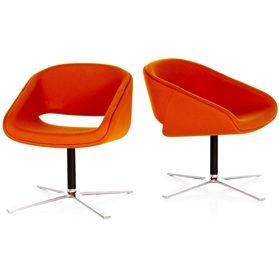 Orangebox Pace Upholstered Chair on Flat 4 Star Base