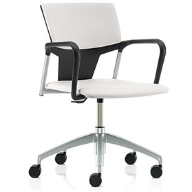Pledge IKON Plastic Swivel Chair Upholstered Seat & Back