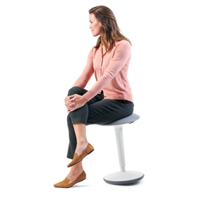 Sedus se:fit height adjustable ergonomic stool, White