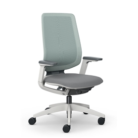 Sedus se:flex Swivel Chair, Backrest with Membrane Cover, Light Grey Frame