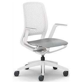 Sedus se:motion Office Swivel Chair, Light Grey un upholstered