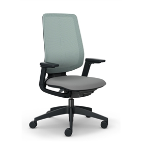 Sedus se:flex Swivel Chair, Backrest with Membrane Cover, Black Frame