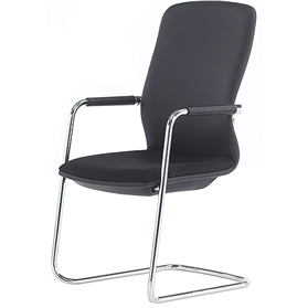 Senator Symmetry High Back Stacking Cantilever Chair