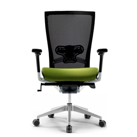 Techo Sidiz Mesh Office Chair in Black & Green with Lumbar