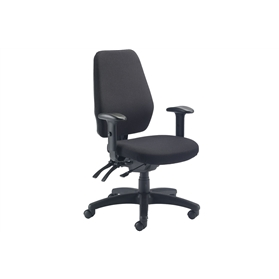 Torasen Orthopaedica 90 Series Orthopaedic Office Chair, Black Fabric