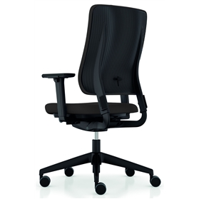 Viasit Drumback Office Chair, QuickShip Black Edition