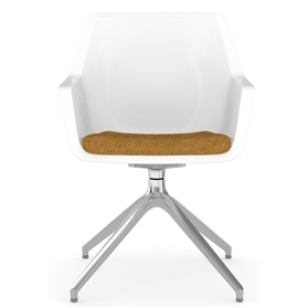 Viasit Repend Shell Chair, Pedestal 4 Star Base, Upholstered Seat
