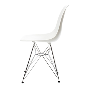 Vitra Eames DSR Plastic Side Chair, White
