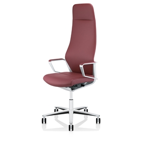 Zuco Signo High Backrest Executive Office Chair in Red Leather